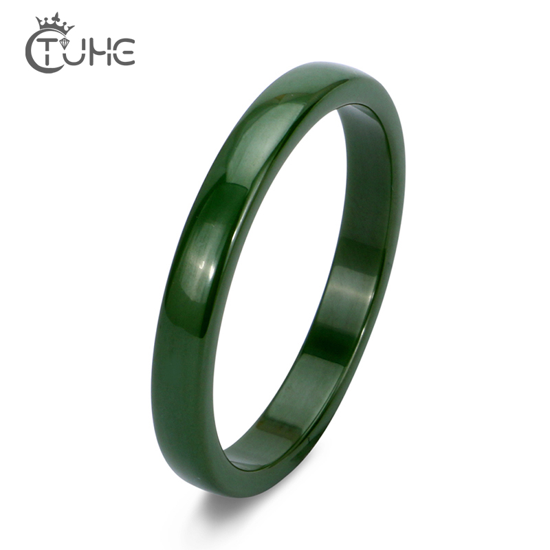 Elegant Wedding Engagement Ceramic Rings Anniversary Accessories Simple Style Green Gray Women Ceramic Rings With Smooth Surface