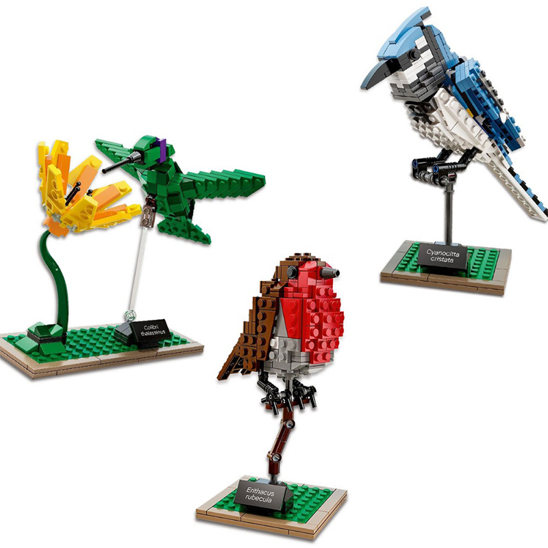 3Pcs/Lot LEPIN 36009 Creative Series The Model Birds Flowers Set Children Educational Building Block Brick Toys Hobbies Gifts the hermitage birds and flowers