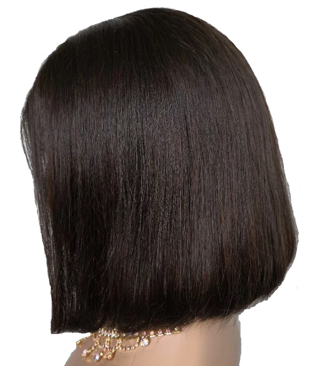 Virgin Aligned Cuticle Brazilian Human Hair Short Wavy Curly Bob Lace Front Frontal Bob Wigs For Black Women