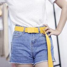 Fashion jeans belt dress wild canvas wide trend ladies new Korean version nylon