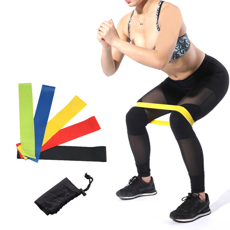 5 Pcs/Set Resistance Bands 5-Levels Gym Fit Yoga Strength Training Pilates Rubber Loops Rehabilitation Training Elastic Bands