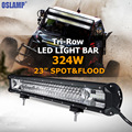 "324W 23"" CREE Chips LED Work Light Bar Offroad 3 Rows Spot Flood Led Bar Combo Beam Truck SUV ATV 4x4 4WD 12v 24v Driving Lamp"