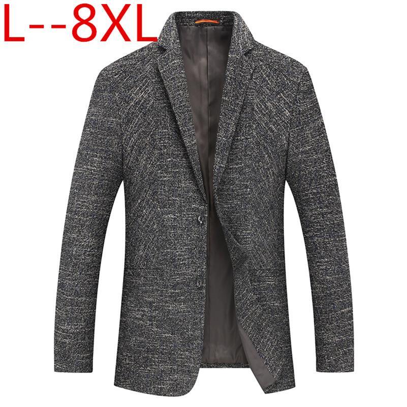 8XL 6XL 5XL 4XL New Arrival Brand Clothing Autumn Suit Blazer Men Fashion Slim Male Suits Casual Solid Color Masculine Blazer