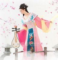 ピンクの王女の衣装大人のための中国古代の服唐王朝の衣装古代中国の衣装