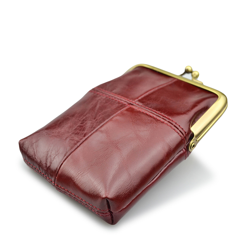 Women New Casual Coin Purses 2018 Direct Selling Mini Purse Genuine Leather Female Wallets Oil-max Change Wallet