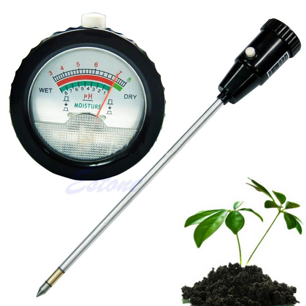Long Water Quality Plants Soil PH Moisture Meter Tester Hydroponics Analyzer #31215# mc7812 induction tobacco moisture meter cotton paper building soil fibre materials moisture meter
