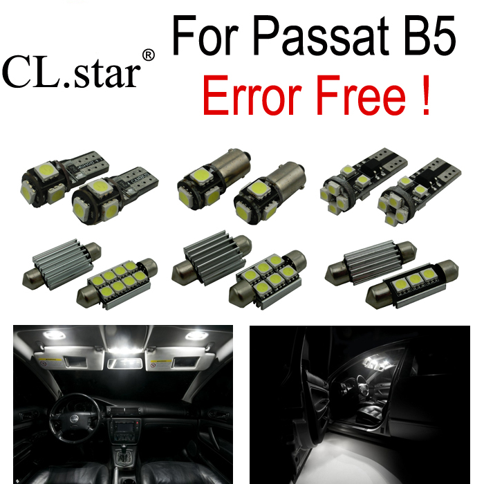 14pc X canbus error free LED lamp Interior dome map Light Kit Package for Volkswagen VW Passat B5  (1998-2005) free shipping 60 17x a4 s4 b5 1998 2001 white led lights interior package kit canbus