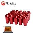 VR- Forged 7075 Aluminum WHEEL LUG NUTS M12*1.25 or 1.5, L=50mm B*ox LIGHT WEIGHT WHEEL NUTS RACING WHEEL LUG NUTS (20pcs/set)