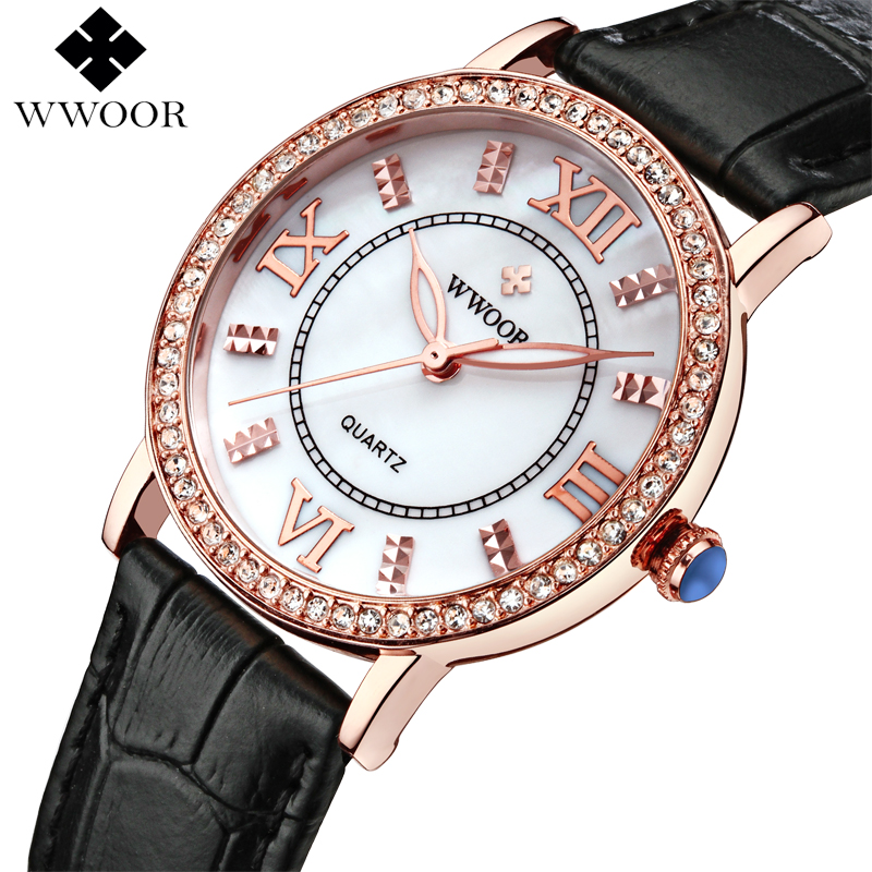 Fashion Women Watches Brand Luxury Leather reloj mujer Rose Gold Clock Ladies Casual Quartz Watch Women Dress Watch montre femme kimio brand bracelet watches women reloj mujer luxury rose gold business casual ladies digital dial clock quartz wristwatch hot page 8