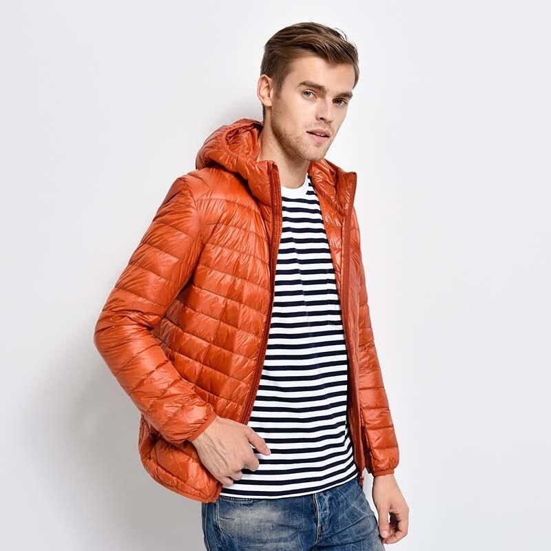 2017 Man Winter Autumn Jacket 90% White Duck Down Jackets Men Hooded Light Down Jackets Warm Outwear Coat Parkas Outdoors mf 352 080fpc touch