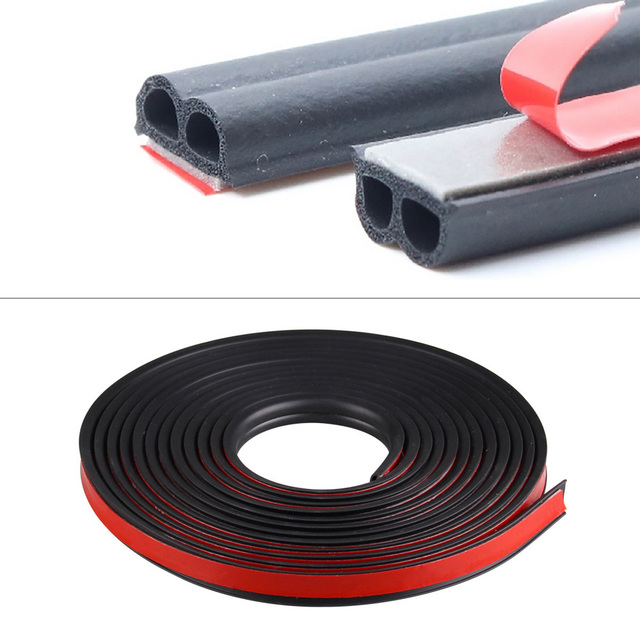 5 8 Meters B Shape 3M Rubber Car Door Seal Strip Sound Insulation For The Car B Type Auto Rubber Seals