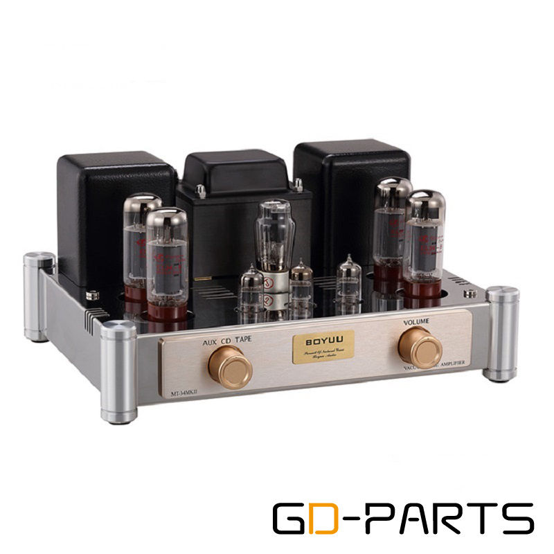 GD-PARTS Vintage Stereo Push Pull EL34 Vacuum Tube Amplifier HIFI Integrated AMP 35Wx2 AUX CD TAPE 1set music hall latest 12ax7 vacuum tube pre amplifier hifi stereo valve pre amp audio processor pure handmade