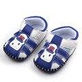 2016 Nova Moda Bebê Menino Crianças Verão Primeiro Walker Sapatos Feitos À Mão de Couro Fundo Duro