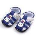 2016 Nuevo Bebé de La Manera Hecha A Mano de Cuero de Fondo Duro Kids Summer Primeros Zapatos del Caminante