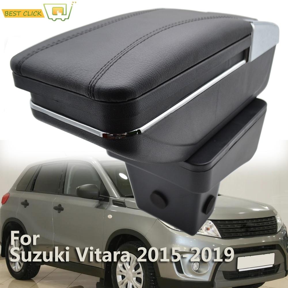 Dual Layer Armrest For Peugeot 208 2013-2018 Car Central Storage Box 2016