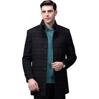 Hodo зимнее пальто Для мужчин длинные пальто для Для Мужчин's Повседневное Тренч длинные Шерстяное пальто зима dmgud016b