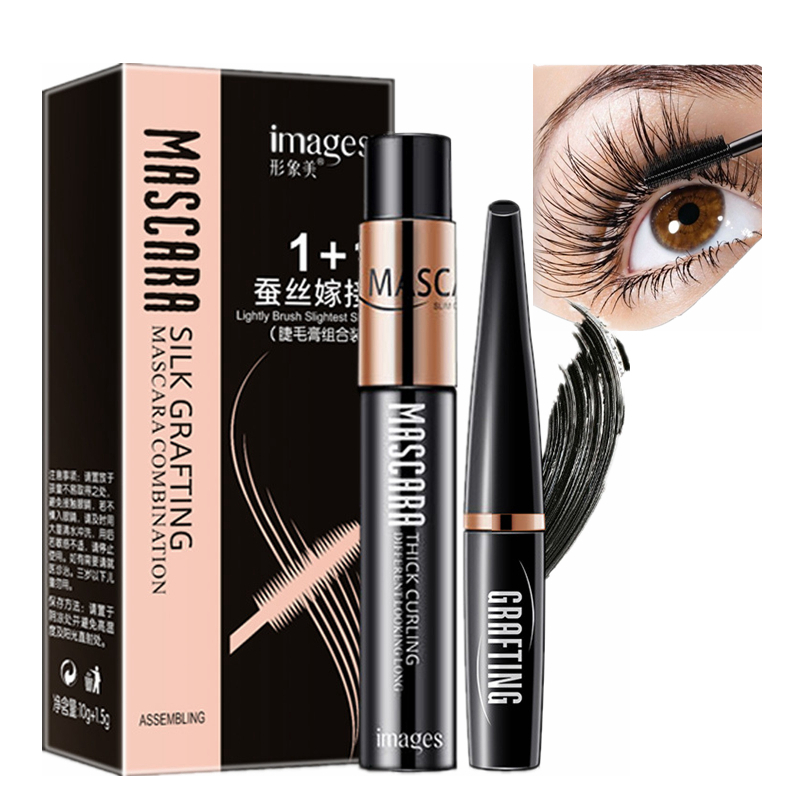 73a822f09c3 2 Pcs/Set 4D Silk Fiber Eyelash Mascara Extension Makeup Waterproof Rimel  Black Volume Lashes Lengthening Eye Lash Long Mascaras