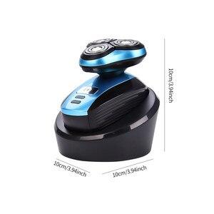 Image 5 - תכליתי חשמלי מכונת גילוח מקצועי זקן גילוח עמיד למים צף ראש גילוח מכונת קירח שיער קליפר טיפוח קיט