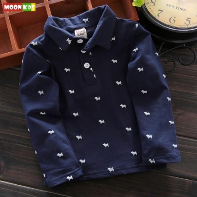 31de227963 Primavera bebê menino POLO camisa masculina longa-camisa de mangas  compridas assentamento camisa lapela crianças