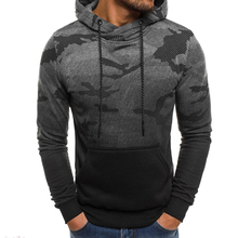 2019 Camouflage Men Hoodies Autumn Winter Sweatshirts Male Casual Hooded Solid Sweatshirt Clothes