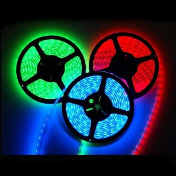 Горячее предложение! Распродажа! 5 м/рулон IP65 Водонепроницаемый 300 Светодиодные ленты SMD5050 RGB Светодиодные ленты A + 44-клавишный ИК Управление; Управление коробка + Питание Бесплатная доставка