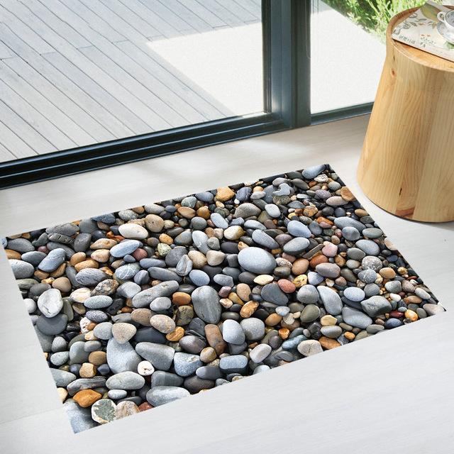 3D Pebbles Printed Floor Mat