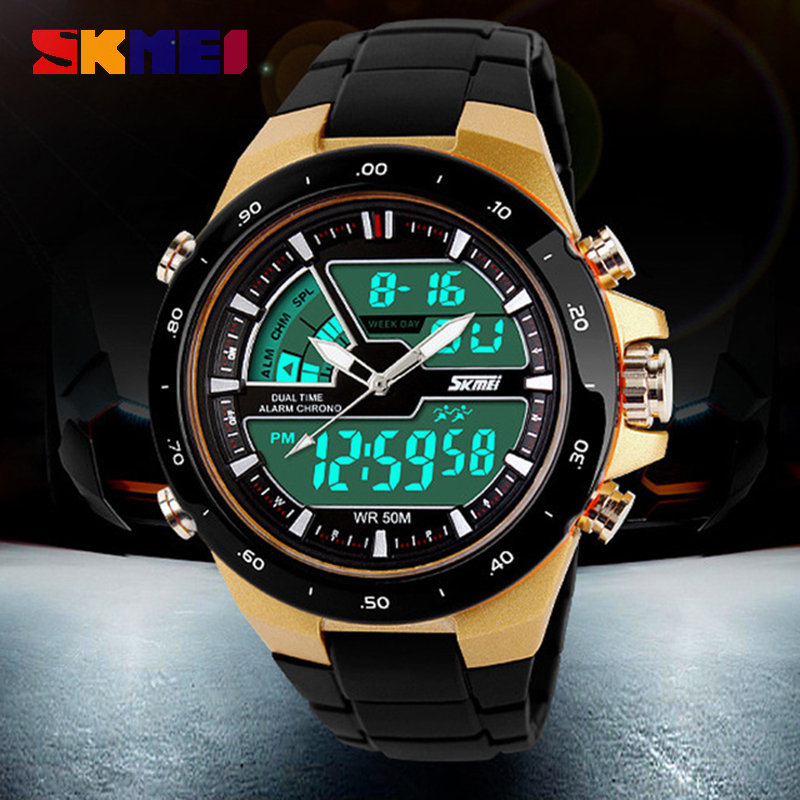 Skmei 1016 Mens Watches Top Brand Luxury Fashion Casual Military Watch Men Sport Watch Male Clock Waterproof Relogio Masculino skmei 6911 womens automatic watch women fashion leather clock top quality famous china brand waterproof luxury military vintage