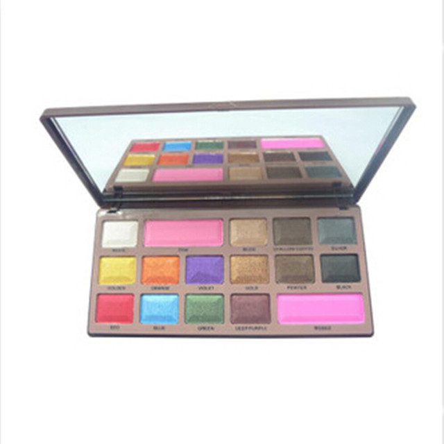 1pcs Professional Makeup Eyeshadow Set 16 Colors Eye Make up chocolate Glitter Eyeshadow Palette Pigment