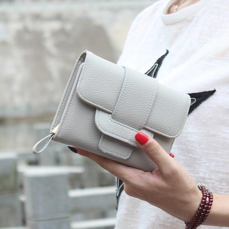 mulheres carteira ferrolho moda tri-dobras Modelo Número : Ls-161002