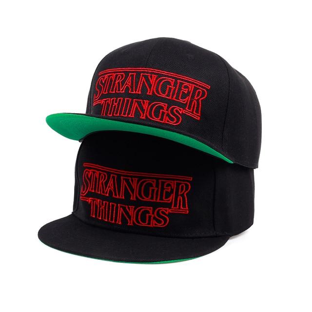 6d87bdd6e4335 TUNICA Men Women Summer Cool Caps Hats Stranger Things Youth Black baseball  Caps Trucker Adjustable Summer Cool Net snapback Hat