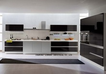 Baking finish Kitchen cabinet(LH-LA026)
