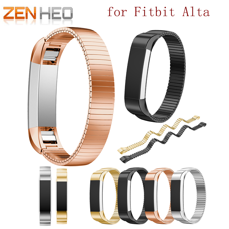 High Quality Watch Brand Elastic Stainless Steel Bracelet WatchBand Strap For Fitbit Alta Tracker Wristwatch Accessories Band
