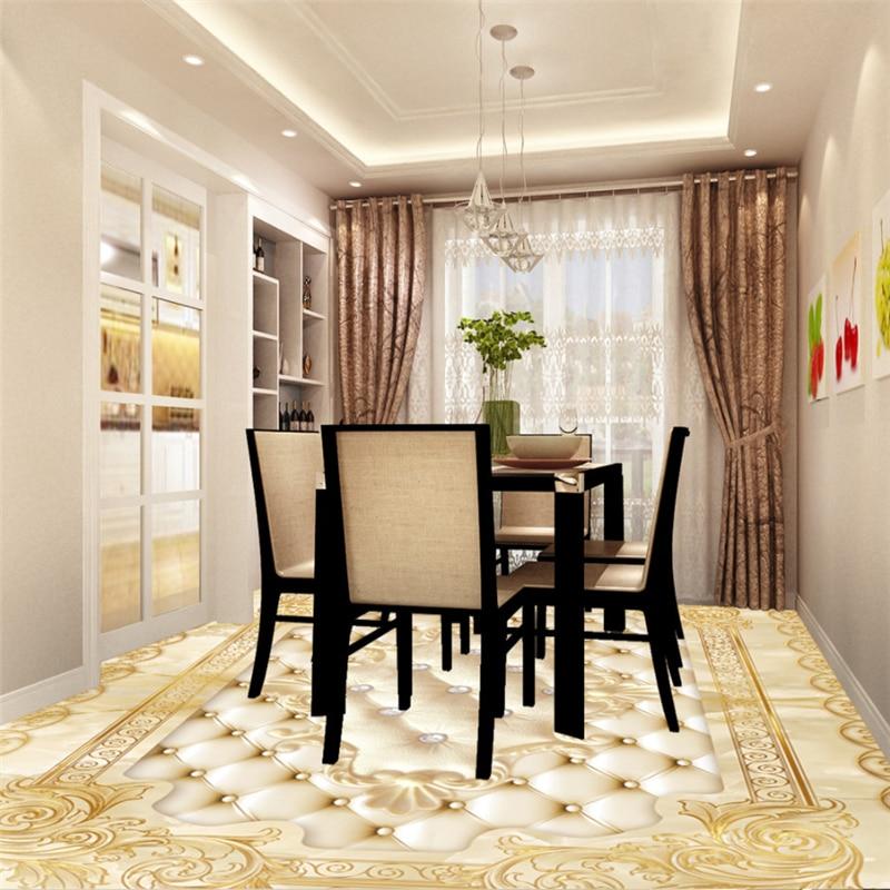 3d Flooring European Luxury Gold Rose Marble Soft Parquet