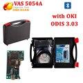 2016 VAS 5054 VAS 5054A ODIS V303 VAS5054 Bluetooth Suporte UDS Protocolo com OKI Chip Fichas Completas Frete Grátis DHL