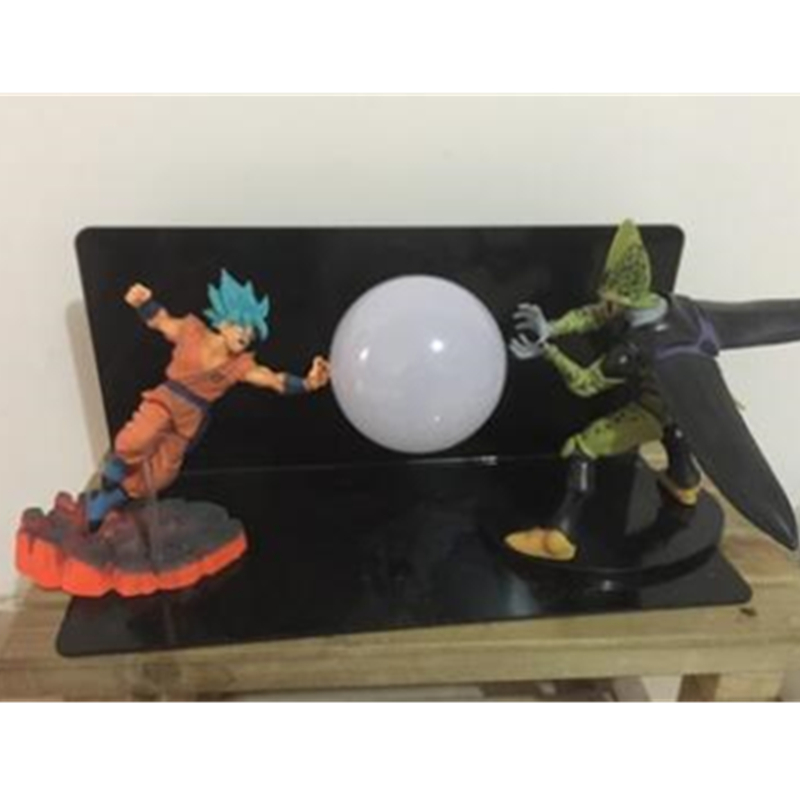 5 Dragon Ball Z DBZ Son Goku VS Cell With LED Light Table lamp PVC Action Figure Collectible Model Toy D436 dragon ball z sun goku master roshi pvc action figure collectible model toy 4pcs set 10 15cm free shipping page 1 page 4