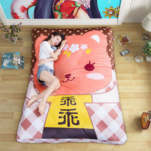 Cartoon mattress Polyester material size of 80*150cm,115*210cm,140*215cm Suitable for children(China)