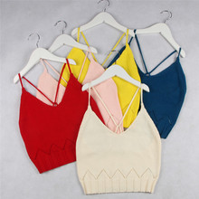 Enfant bébé fille camisole enfants filles tricoté gilet halter tops enfants soleil-top en tricot gilet printemps automne hiver