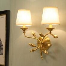 Современные украшения стены светильник Медь настенный светильник Гостиная прикроватные бра ТВ Задний план стены Книги по искусству бра Освещение для дома