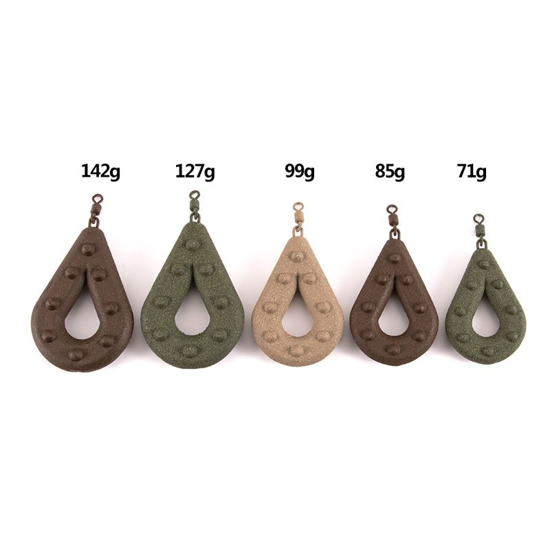 Hollow Pear Shape Fishing Sinker Sea Fishing Leads Swivel Weights Tackle Accessories 71g/85g/99g/127g/142g