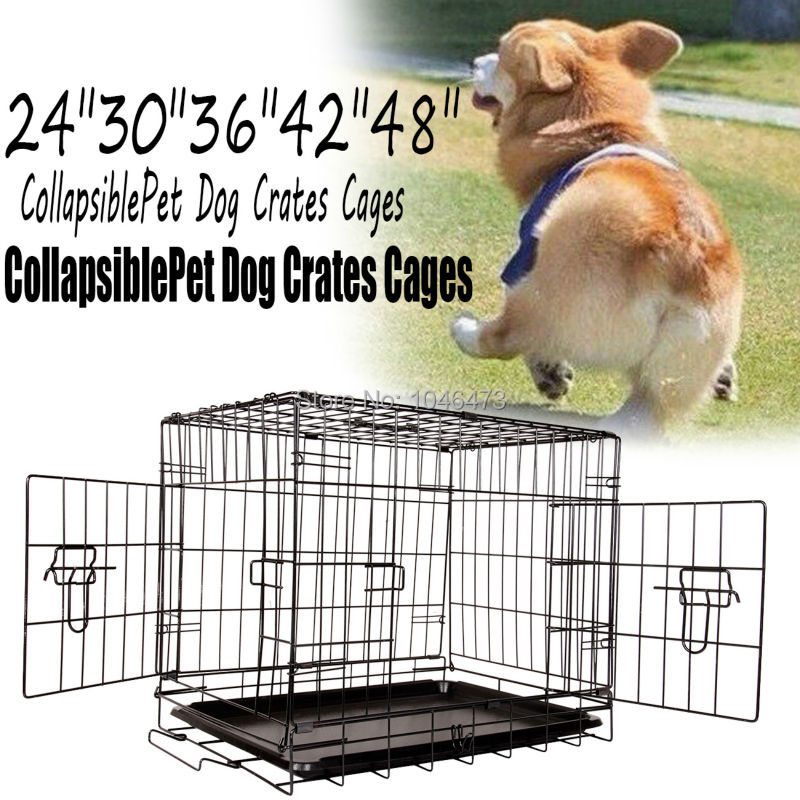 Ship from EU  30 Collapsible Dog Kitten Puppy Crates Enclosure Cages Pet Carrier Training Cage