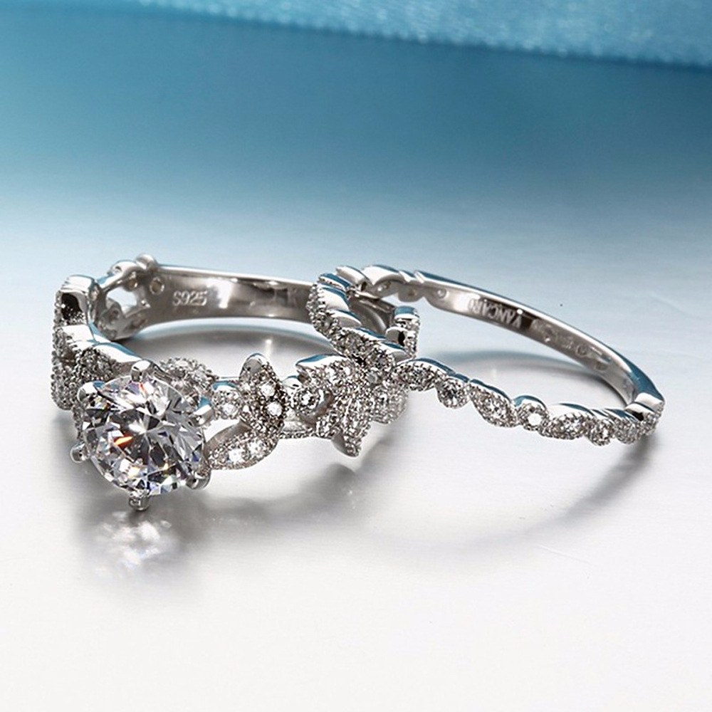 70% OFF !  Luxury 925 Silver Ring Set for Women 3