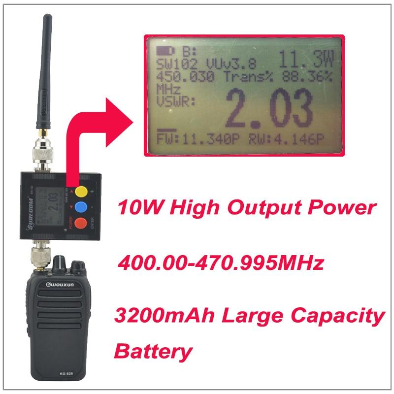 2016 New WouXun KG-828 10W Walkie Talkie UHF 400.000-470.995MHz IP66 Waterproof KG828 Two Way Radio With 3200mAh Battery Pack