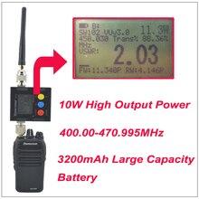 2016 Новый WouXun KG-828 10 Вт Walkie Talkie UHF 400.000-470.995 МГц IP66 Водонепроницаемый KG828 Двухстороннее Радио с 3200 мАч Аккумулятор
