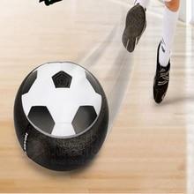 Vente chaude Gadget Jouets Air Puissance Football Disque Dernières Jeu Intérieur LED Électrique Suspension Pneumatique Football Jouet Pour Enfants