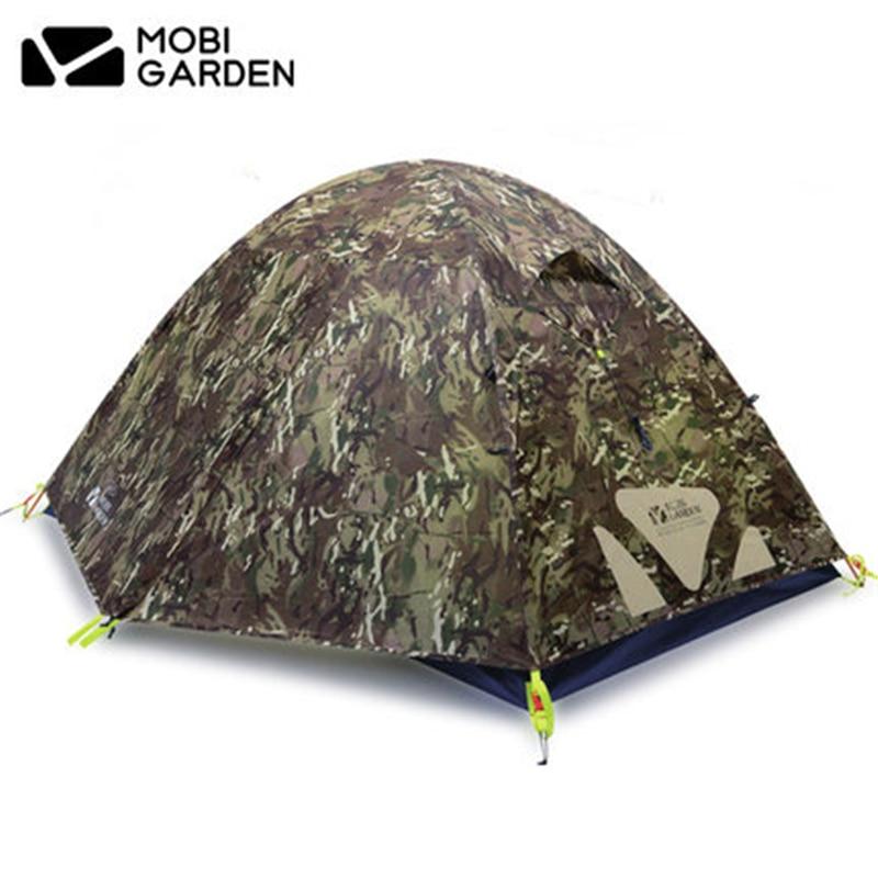 MOBI GIARDINO di Alta Qualità Camo Ultralight tenda 2-3 Persone A Doppio Strato di Alluminio Palo della tenda Da Campeggio Impermeabile Quattro Stagioni tenda