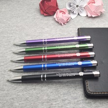 Wholesale creative corporate gifts company party engraved pen 50pcs a lot laser engrave with your artwork