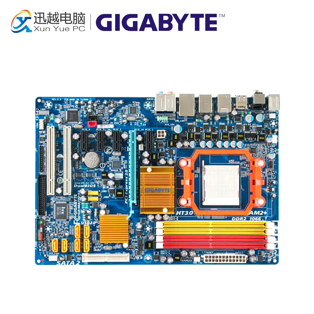Gigabyte GA-MA770-S3 Desktop Motherboard 770 Socket AM2+ DDR2 SATA2 USB2.0 ATX for gigabyte ga ma78g ds3hp original used desktop motherboard for amd 780g socket am2 for ddr2 sata2 usb2 0 atx