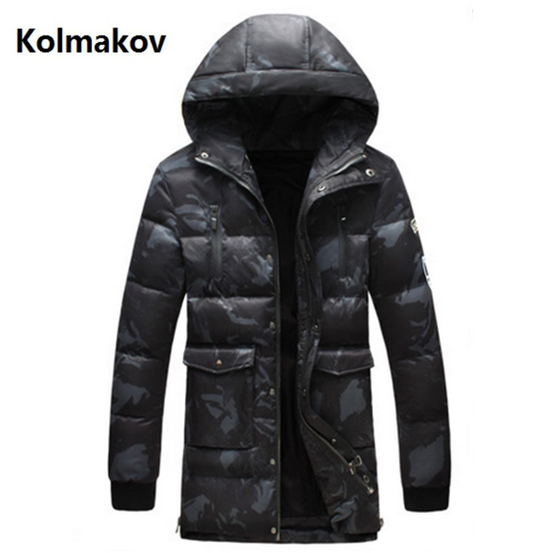 2017 new winter Mens fashion thicken jackets white duck down down jacket Mens Camouflage Down Coats trench coat men Parkas