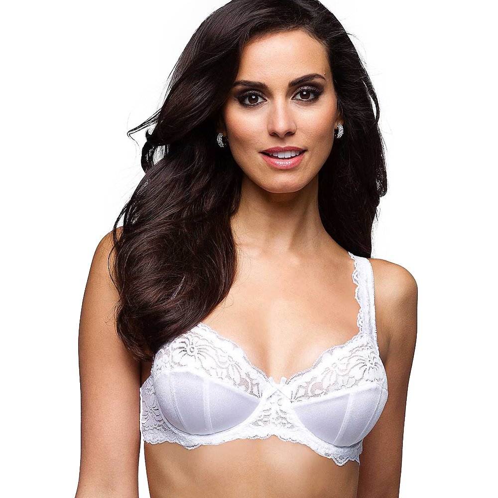 Womens Sexy Full Lace Bra Large Size Wide Straps Bralette -1317
