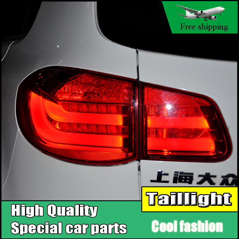 Car Styling Case For Volkswagen VW Tiguan 2010 2011 2012 Taillights LED Tail Light Rear Lamp DRL+Brake+Signal Auto Accessories jgrt car styling for vw tiguan taillights 2010 2012 tiguan led tail lamp rear lamp led fog light for 1pair 4pcs